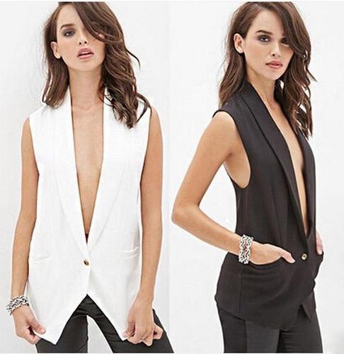 chaleco blazer formal dama