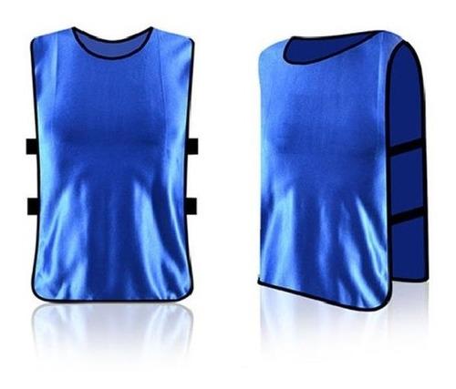 chaleco entrenamiento deportivo futbol azul de niños