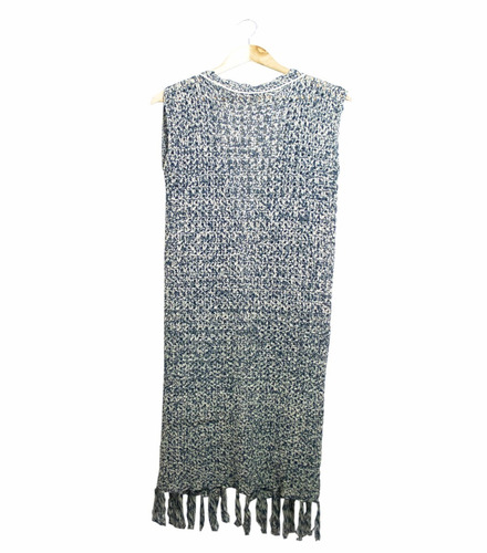 chaleco largo con flecos 100% algodón hecho en uruguay