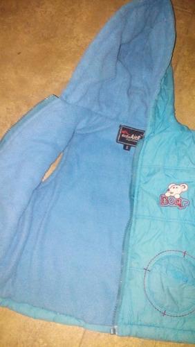 chaleco nylon y polar niño/a talle 2 con capucha casi nuevo
