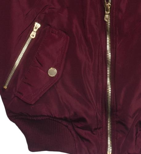 chamarra bomber para mujer mod. cbf1901 - coca bella fashion