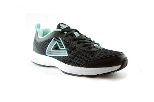 champion para dama deportivo peak / calzado running negro