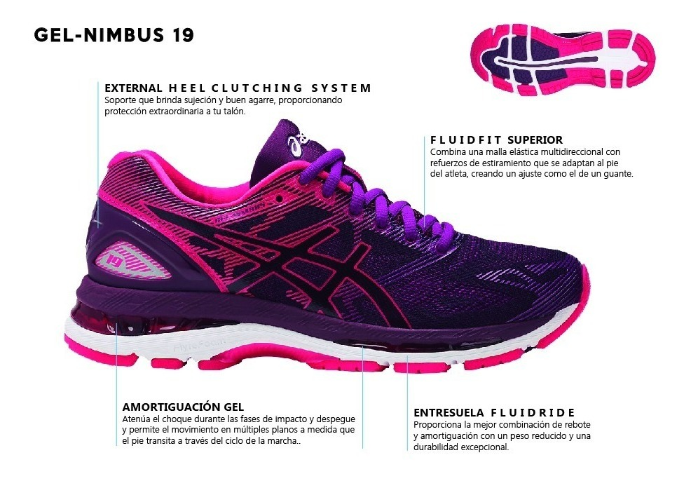 best sneakers 2529b 52cf9 Championes Dama Asics Gel-nimbus T750n-9020 - Global Sports