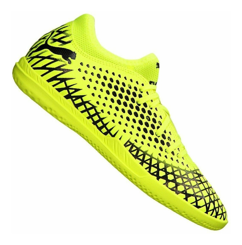 PUMA 102975 Nevoa Lite Indoor Soccer Futsala Shoes Low Sneakers Red Yellow Mens
