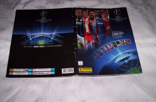champions 2010-2011.album de figuritas panini.completo...