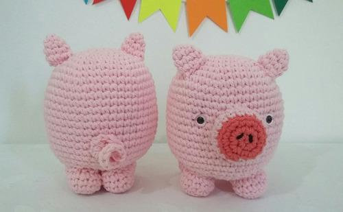 chanchito amigurumi muñeco tejido crochet