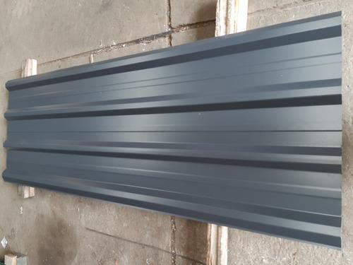 chapa prepintada gris trapecio 041mm ( c.26) x 086m de ancho