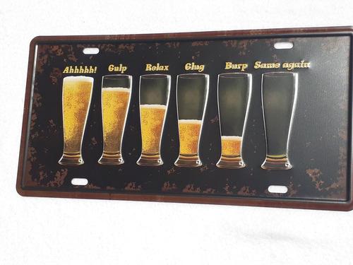 chapas matricula retro vintage cervezas coca pepsi