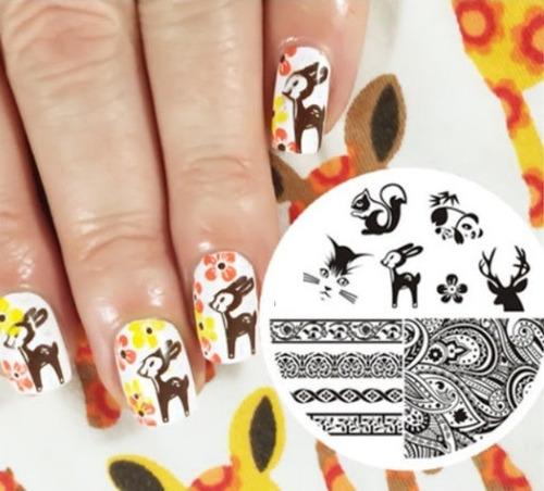 chapas para stamping en uñas - nail art