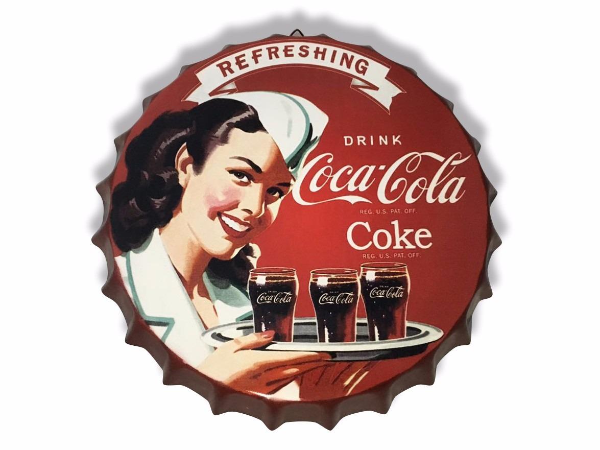 Chapas retro coca cola adorno decoraci n 399 399 - Chapa coca cola pared ...