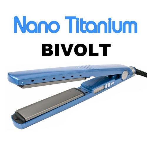 chapinha prancha profissional nano titanium bivolt até 450º