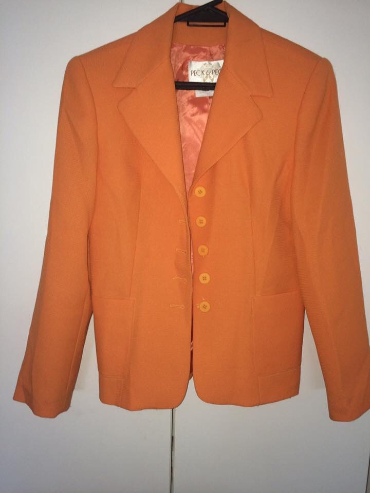 Chaqueta Blazer Nueva Naranja Mujer