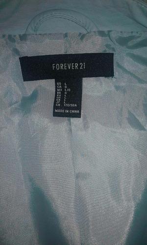chaqueta de cuero ecológico sin uso - forever 21