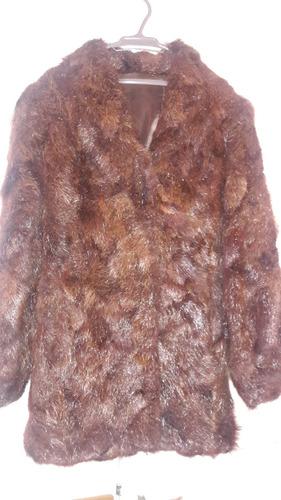 chaqueta de nutria impecable