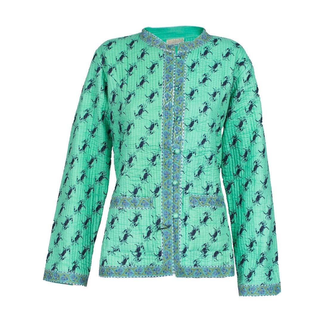 chaqueta hindú verde con azul talle s m. Cargando zoom. 12a985497387