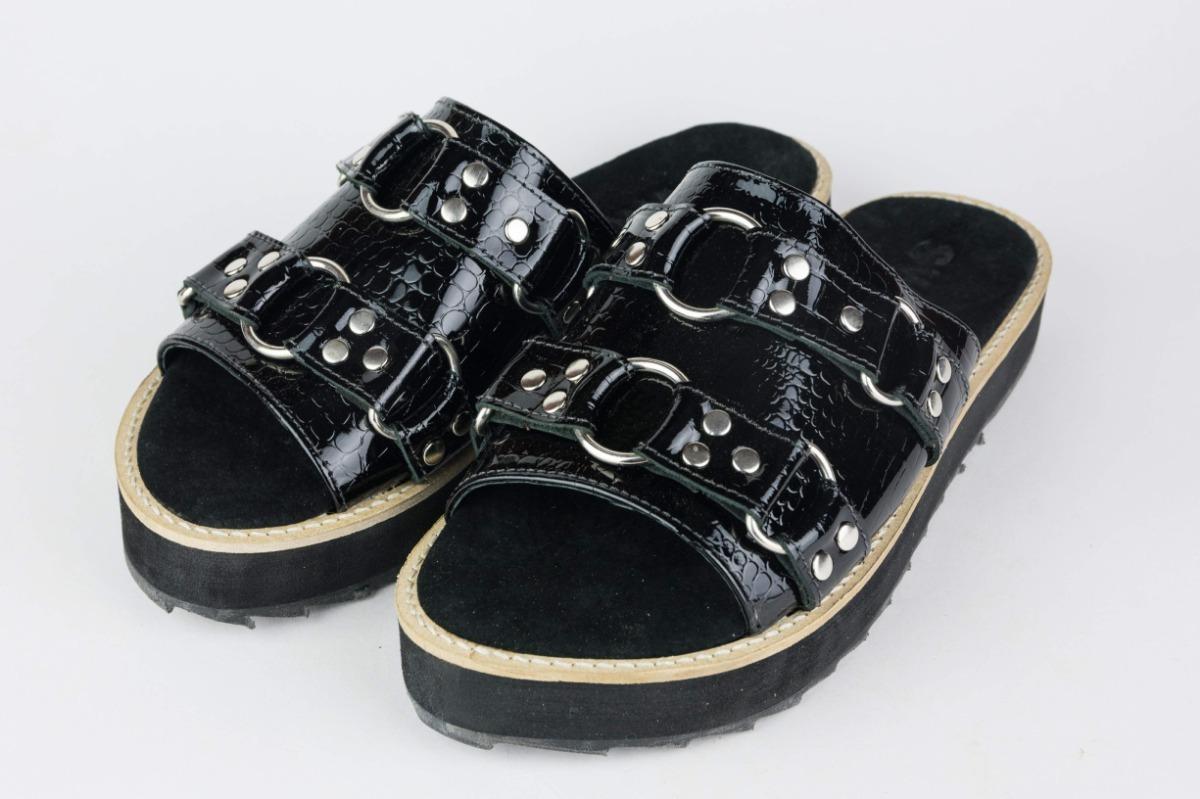 Cuero 00 Zapatos Swag 3 400 Sandalias en Chatitas Chatas 100 pwUTqnF