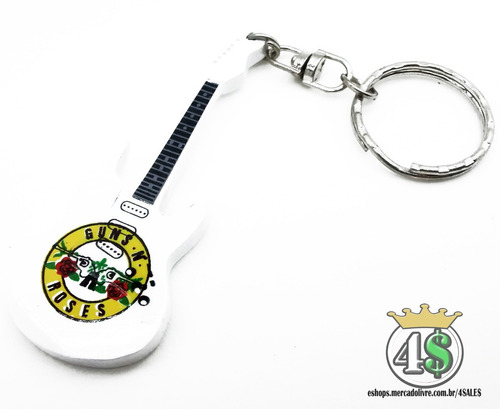 chaveiro guitarra guns n roses slash rock + frete grátis!