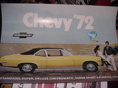 chevrolet chevy 72 - afiche publicitario