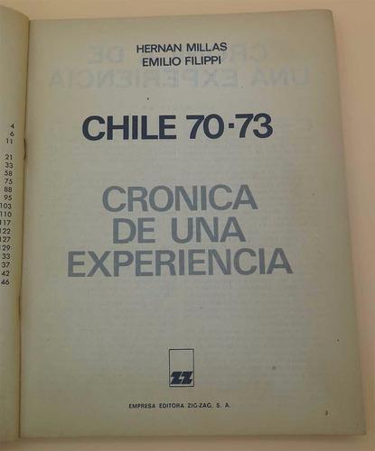 chile 70-73 crónica de una experiencia - millas - filippi