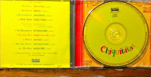 chiquititas - cd remexe - sony 1995 nacional - original