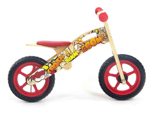 chiva bici de madera my bike bebesit mb1000 superheroe