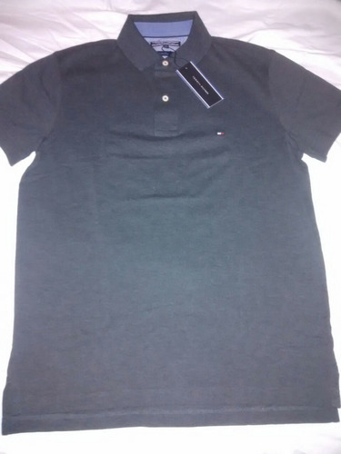 chomba tommy hilfiger original (gris oscuro)