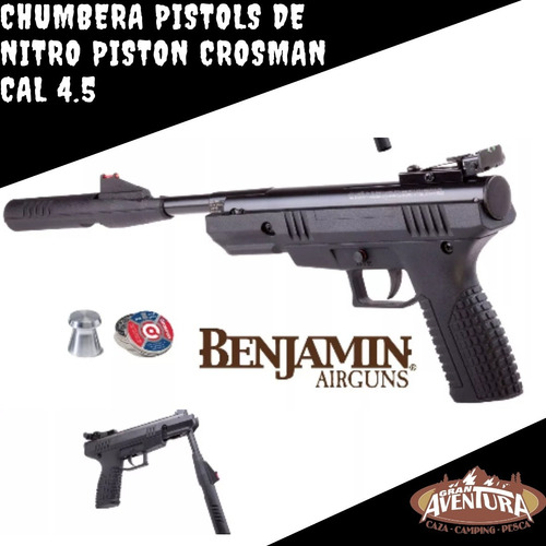 chumbera pistola de nitro piston benjamin cal 4.5 gran avent