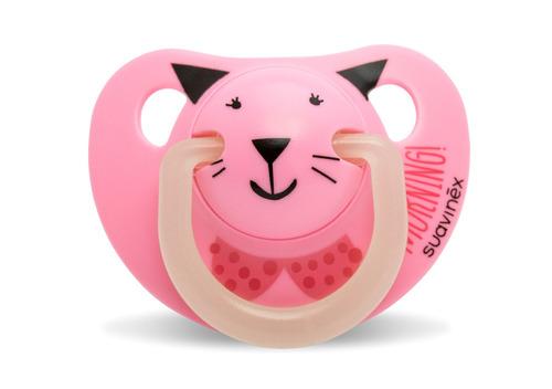 chupete suavinex silicona noche rosa 0+  bebés y niños