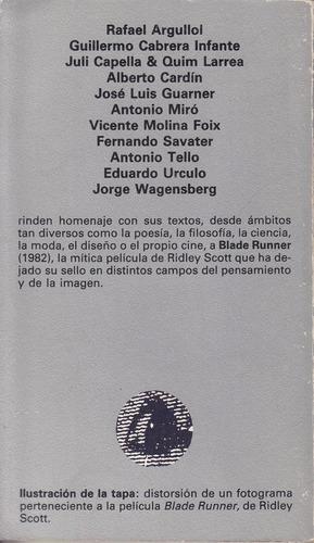 cine de culto homenaje blade runner tusquets 1988 1a edicion