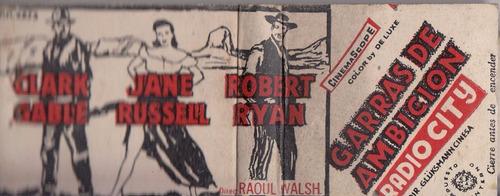 cine uruguay radio city jane russell caja fosforos vintage