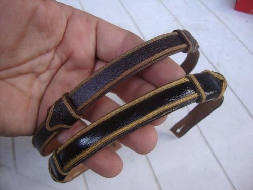 cinta de cuero para gorra de policia-precio x ambas-original