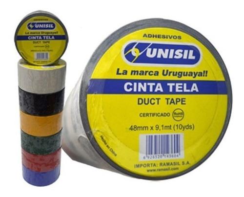 cinta tela amarilla 48 mm * 10 y