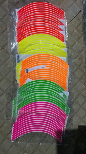 cintas para llantas fluo,calcos,adhesivos,motos,revendedores