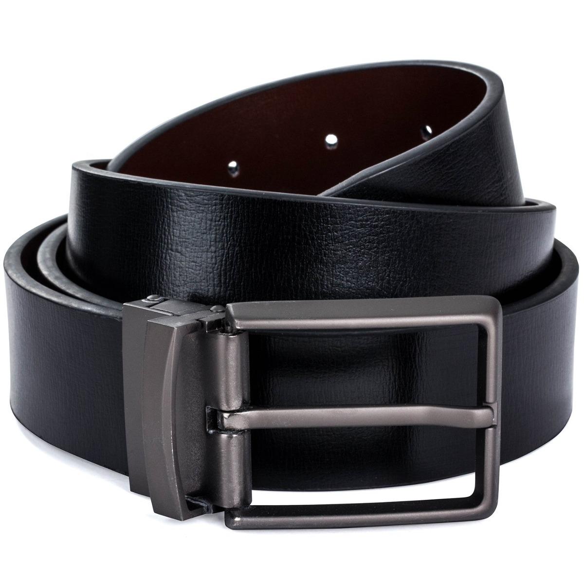 be595942831 cinturón de cuero reversible para hombre marrón   negro c. Cargando zoom.