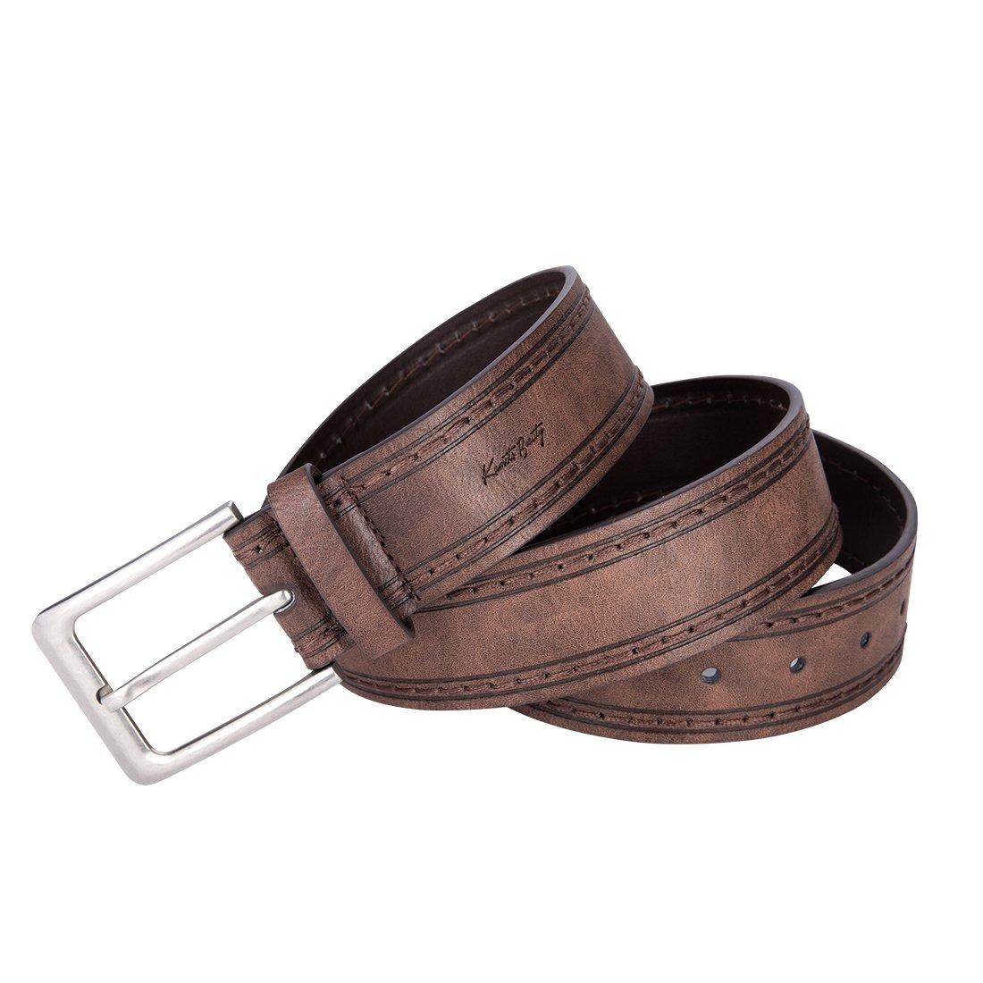cinturón de hebilla de cuero vintage marrón oscuro para j. Cargando zoom. a38fa92284a6
