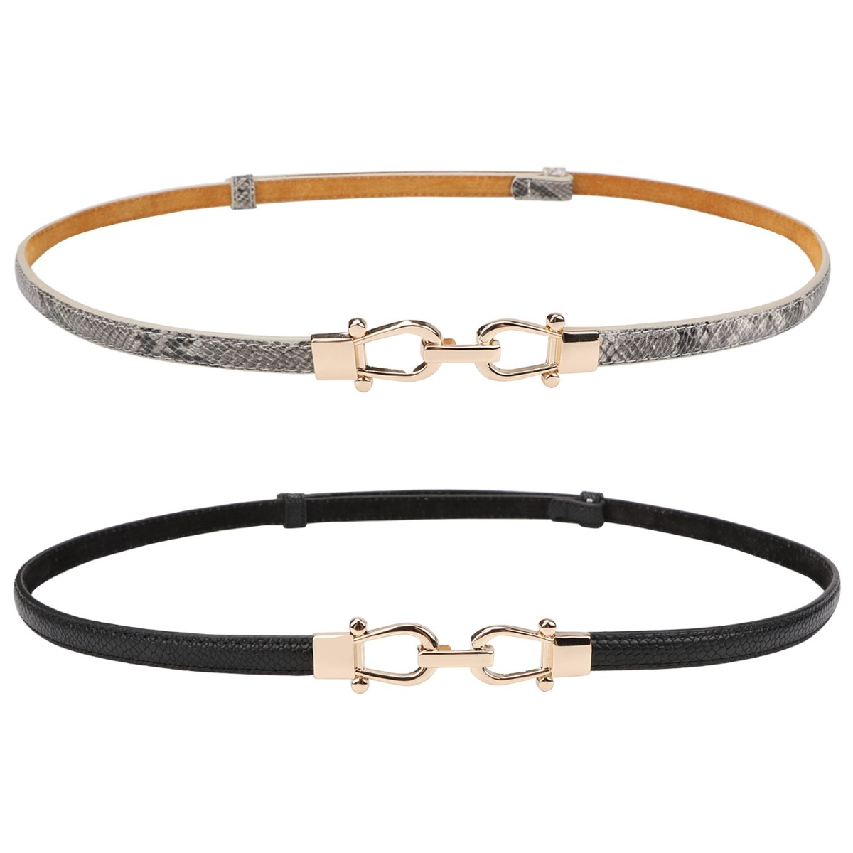 mejor selección 0bbc9 7a99e Cinturón Fino Para Mujer Cinturones De Cintura De Cuero G