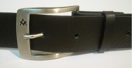 cinturón masón piel