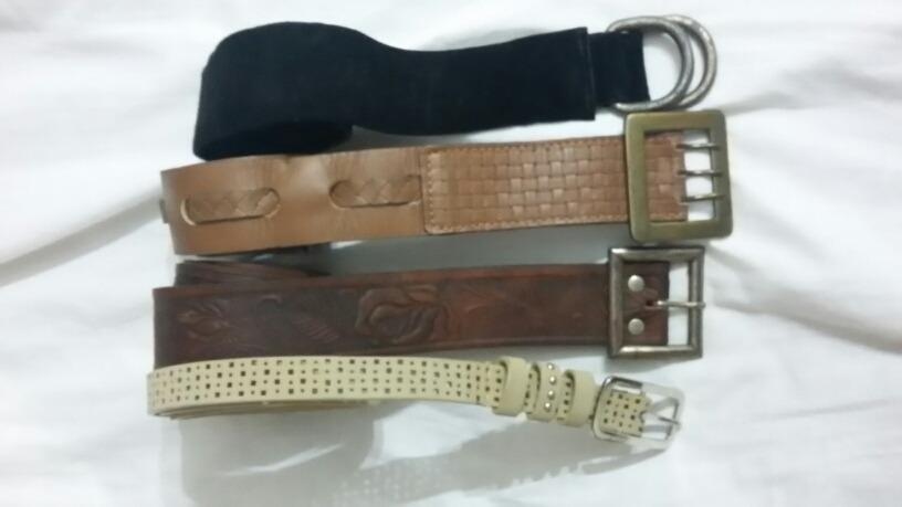 Cinturones De Mujer -lote De 10- 4cuero gamuza c5124d8837da