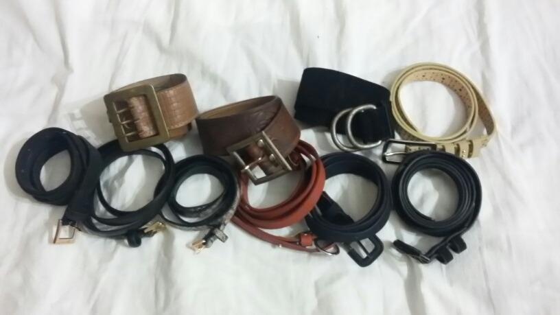 Cinturones De Mujer -lote De 10- 4cuero gamuza c361dd74106a