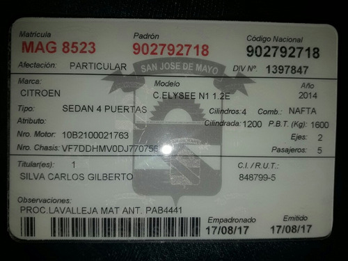 citroën c-elysée 1.2 82 5v feel 2014