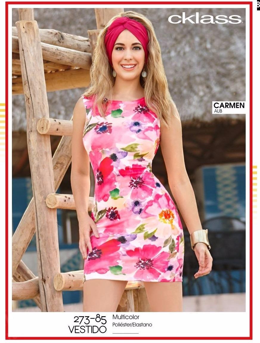 Cklass Vestido Rosa Multicolor 273-85 Primavera Verano 2017 ...