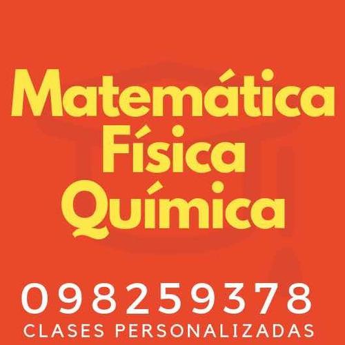 clases particulares de química, física, matemática y otros.