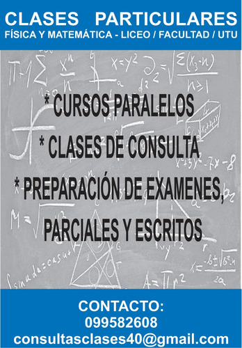 clases particulares: física/matemática
