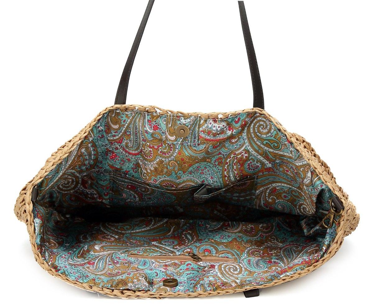 10e12aaf88e clásico bolso de paja verano playa mar bolso bolso grande. Cargando zoom.