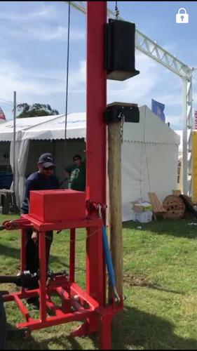 clavadora de postes - hincadora- clava palos - mecánica