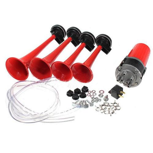 claxon tono hipodromo 4 cornetas de aire bocina c compresor