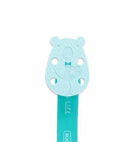 clip broche de cinta oso suavinex - verde
