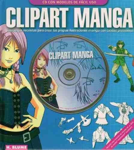 clipart manga. libro con cd