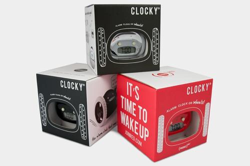 clocky ¡ el único reloj despertador que corre y te levanta!