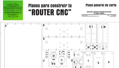 cnc casera (modelo 3d) incluye planos